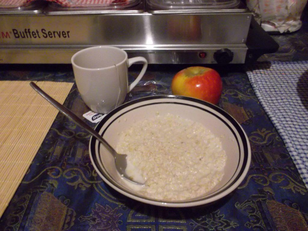 porridge with coconutmilk and honey