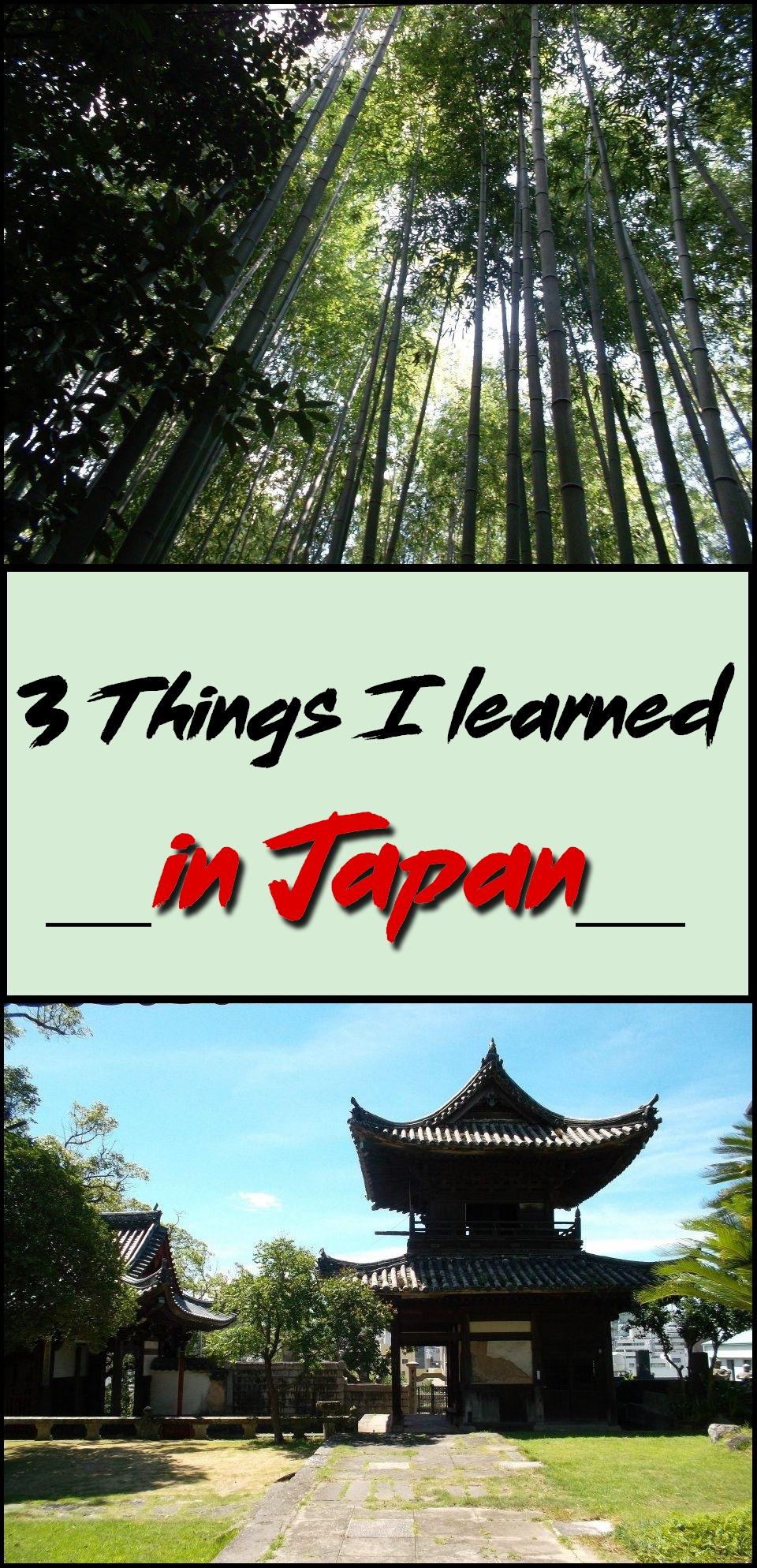 Japan 3 things