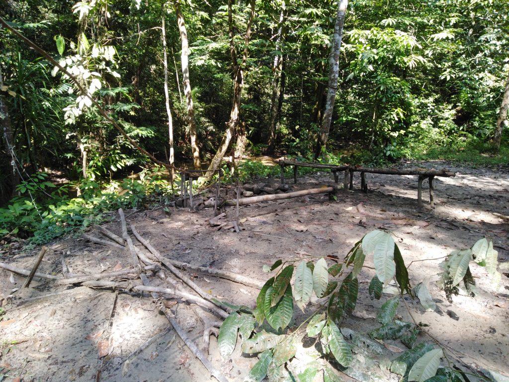 camping spot pisang falls